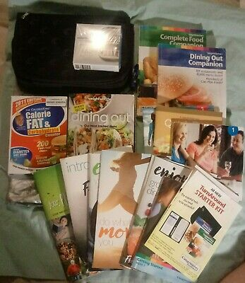LOT OF Weight Watchers  Books, Guides, Meal/Dine Plan & Calculator& Case EUC