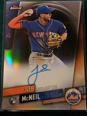 2019 Topps Finest Rc On Card Auto Jeff Mcneil Mets Rookie Signature