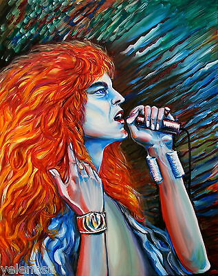 ORIGINAL Signed Modern art Celebrity Oil/Canvas painting Robert Plant by Yelena