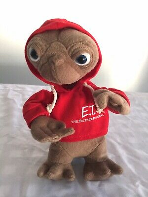 ET The Extra Terrestrial with Red Hoodie Plush Soft Toy Stuffed 29cm tall
