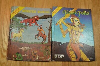 VTG Dungeons and Dragons Monster Manual 1979 TSR Fiend Folio 1984 Books