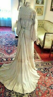 Beautiful Antique/Vintage Victorian/Edwardian Wedding Gown Wearable! NO RESERVE!