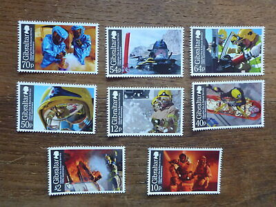 Gibraltar 2015 Fire And Rescue Set 8 Mint Stamps Mnh