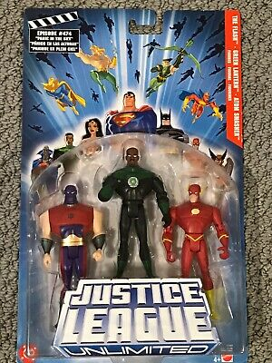 Justice League unlimited set The Flash Green Lantern Atom Smasher mip