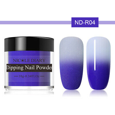 NICOLE DIARY 10g Thermal Dipping Nail Powder Color Changing No UV Needed ND-R04