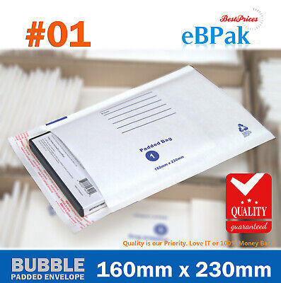 Bubble Mailer Padded Bag #01 160x230mm A5 C5 Envelope White with Address Lines