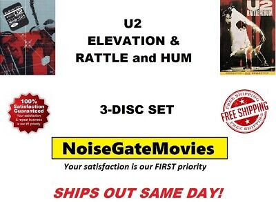 U2 - Rattle and Hum & Elevation 3-Disc Set DVD - Ships Out Same Day!