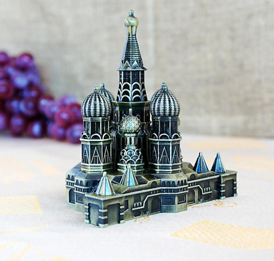antique classic famous Moscow Kremlin hand-made craft model for home coffee bar