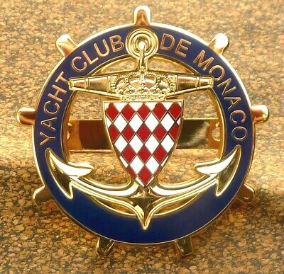 Monte Carlo Yacht Club De Monaco Car Grille Badge - Gold
