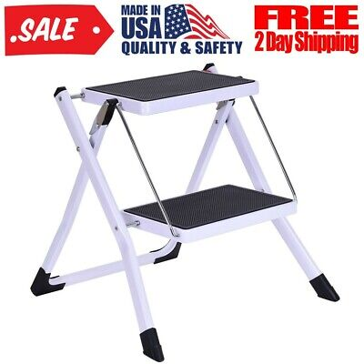 Super 2 Step Ladder Folding Step Stool Steel Ladder Sturdy And Squirreltailoven Fun Painted Chair Ideas Images Squirreltailovenorg