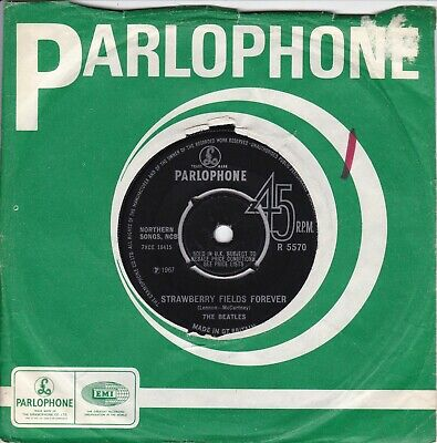 The Beatles..strawberry Fields Forever..very Good 1967 Parlophone Pop / Beat 7""
