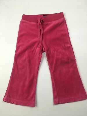 Girls Ralph Lauren Barbie Pink Soft Feel Fleece Boot Leg Joggers Trousers 18 Mth