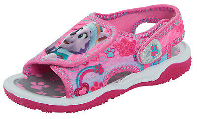Paw Patrol Girls Sports Sandals Kids Lightweight Summer Pink Beach Shoes Size
