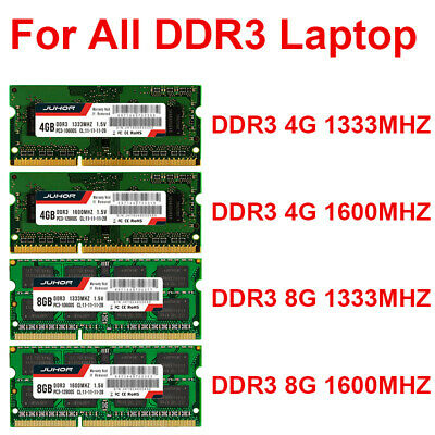 JUHOR DDR3 1600MHz 1333MHz 8GB/4GB Laptop Memory RAM 204Pin 1.5V SODIMM UK Stock