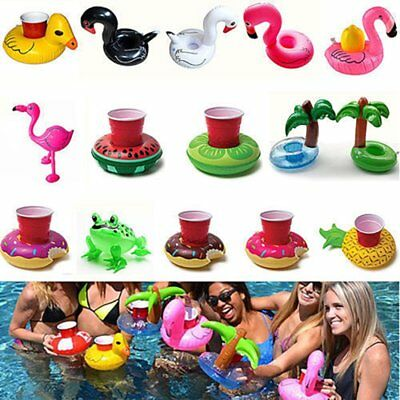 Inflatable Floating Swimming Pool Bath Beach Drink Can Cup Beer Holder Boat Toy