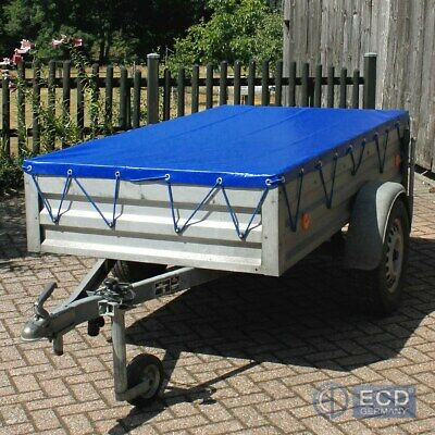 Tarp sheet tarp cover trailer tarpaulin with rubber strap 2575x1345x50mm blue