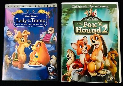 Disney DVD Lot - Lady And The Tramp & The Fox And The Hound 2 - FREE SHIPPING