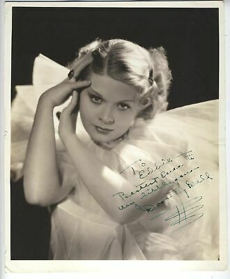 Gorgeous!!!! Dorothy Dell Signed Photo!!! Actress Died At 19 With Coa