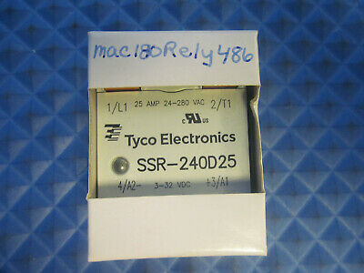 NOS Tyco Electronics Solid State Relay SSR-240D25 25A 24-280VAC 3-32VDC