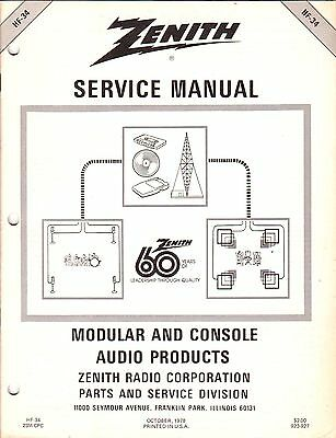 NEW Service Manual Heathkit/Zenith Stereo Modular Console Audio Product Various