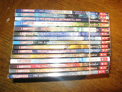 Scholastic~I Survived Books~Lot Of 9~Hindenburg~Grizzlies~Shark~Titanic~Sept 11