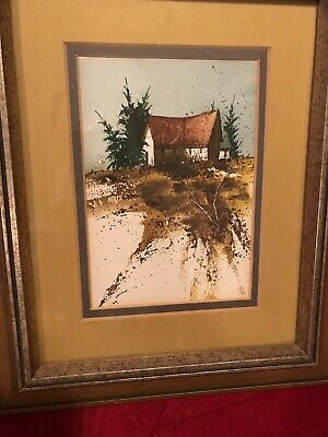 WATER COLOR PAINTING DWANE TAYLOR -Rural home.