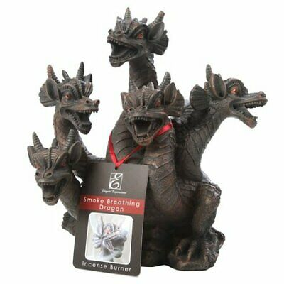5-Headed Smoke Breathing Dragon Incense Burner