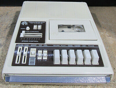 American Printing House for the Blind Cassette Player and Recorder 5198A Tested