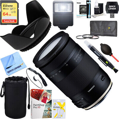 Tamron 18-400mm f/3.5-6.3 Di II VC HLD Lens for Canon Mount + 64GB Ultimate Kit