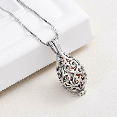 Rose Gold Keepsake Cremation Ashes Necklace Memorial Jewellery Urn Pendant Ladys