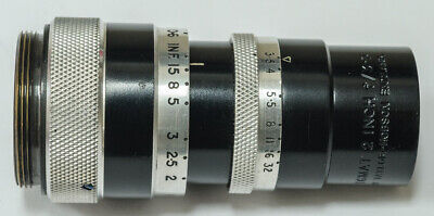 Taylor Hobson Cooke 2 Inch F3.5 C Mount Movie Lens. Very nice condition for age