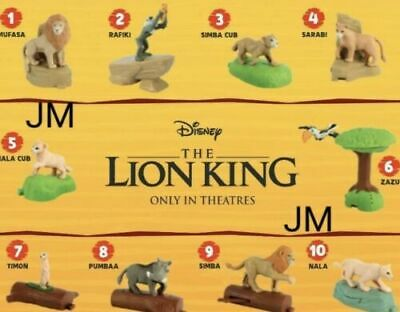 2019 McDonald's Happy Meal Toys Lion King! Choose Your Favorite!