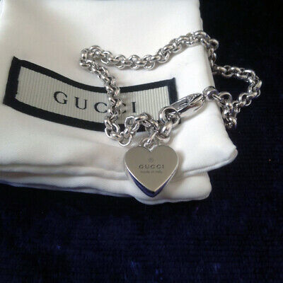 b9ad0e6409cad GUCCI TRADEMARK SILVER Heart And Butterfly Bracelet - £99.99 ...
