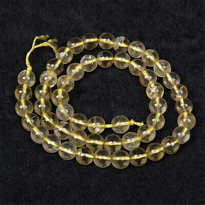 Natural Citrine Loose Beads Making Jewelry 15 inches Accessories Top Wholesale