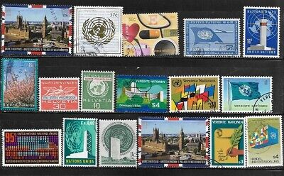 United Nations Small Mixed Lot of Cancelled Stamps