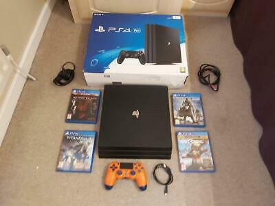 Sony PlayStation 4 Pro 1TB Jet Black Console (boxed)  Plus 4 games & accessories
