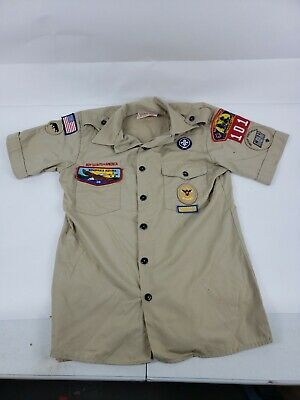 Boy Scouts Of America,tan shirt, Adult Small, short sleeve FREE SHIP