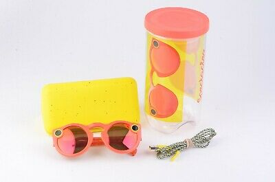 Snapchat Coral Spectacles In Tube/Case, Never Used 6S+, 6S, 6+, 6, 5S, 5C, 5
