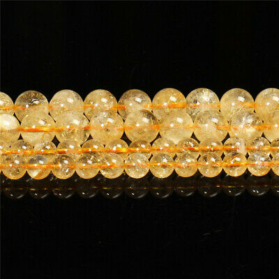 Natural Citrine Loose Beads Making Jewelry 15 inches Styles Strand Handmade Top