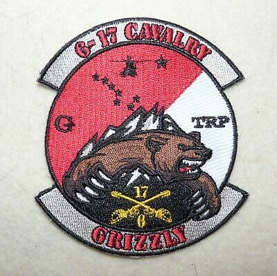 """US Army G Troop, 6th Squadron 17th Cavalry Regiment """"Grizzly"""" Patch"""