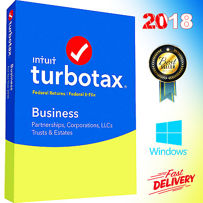 TurboTax business 2018 Windows Full Licensed 5 Users  Federal State Return Tax