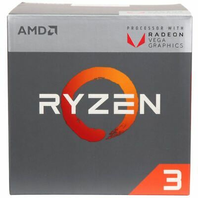 NEW AMD RYZEN 3 2200G Quad-Core 3.5 GHz (3.7 GHz Turbo) Socket AM4 65W