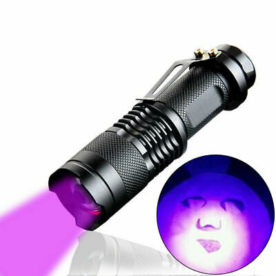 High Powered UV Lamp Black Light Ultra Violet Flashlight 395nm 5Watt LED Chip