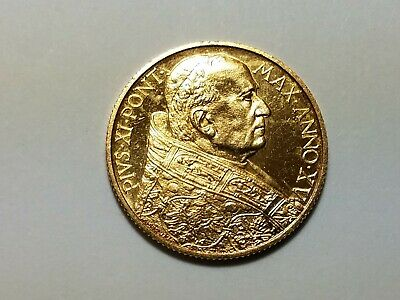 1936 100 Lire Vatican City Italy Gold Coin - Pius XI - Ships Free in US!
