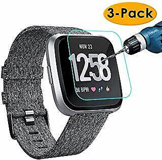 2 Packs 3/Pack   Screen Protector Premium Tempered Glass for Fitbit Versa