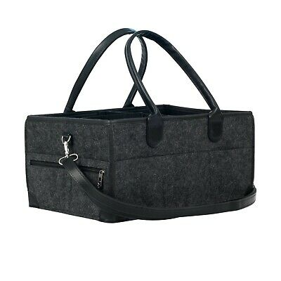 Baby Diaper Caddy Bag Organizer Baby Shower Gift Travel Bag New with Tag Black