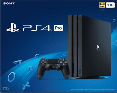 Sony PlayStation Pro 4 1TB Jet Black Console 2 months old