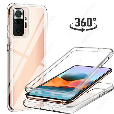 360° Full Cover Silicone Front+PC Back Case For Xiaomi Redmi Note 7 Pro G0 Mi 9