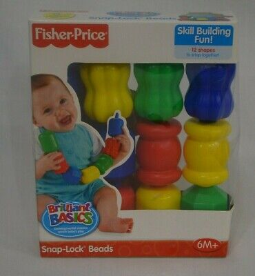 NEW FISHER PRICE Snap lock Beads Rattle Toys for Kids baby