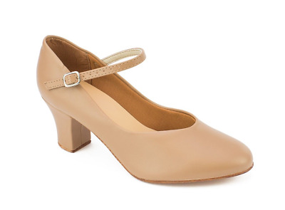"Tan So Danca 2"" heel character/stage dance shoes (CH52) - UK 2.5"